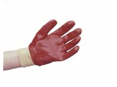 Fully Coated Red PVC Glove