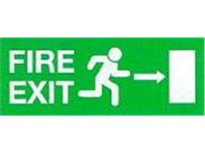 EC Directive Fire Exit Signs