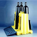 6-Pack Poly Stand with Ramps | free standing cylinder racks