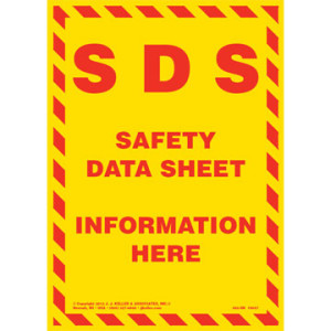Safety data sheets   chemical storage