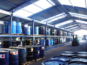Drum Storage Warehouse Flammable Hazardous