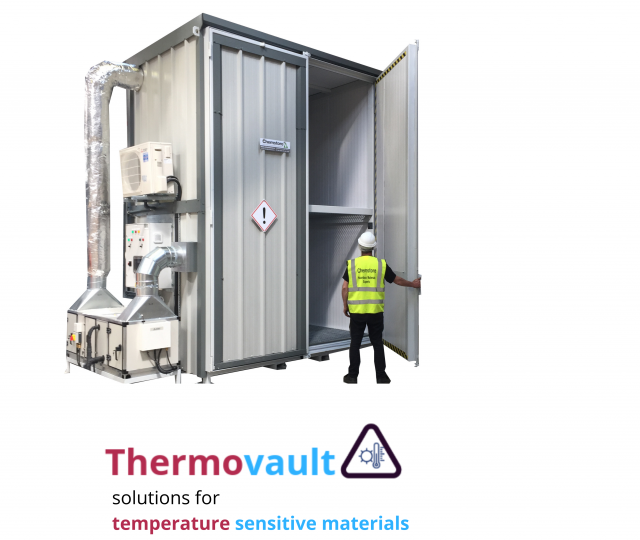 Thermovault – Temperature Controlled Bunded Drum/IBC Stores