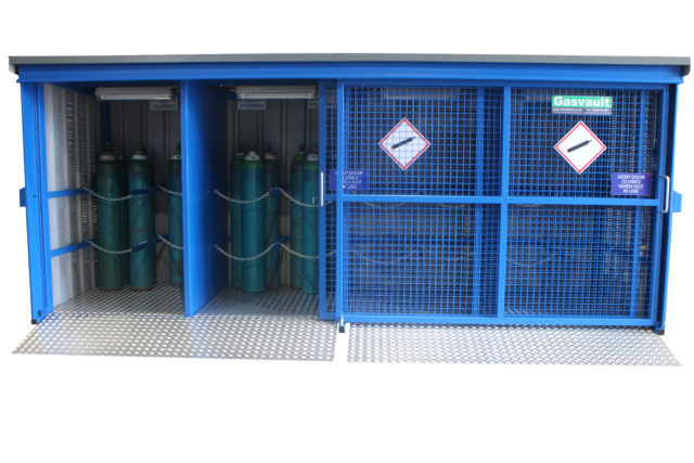 Illustrates the external view of a 48GSD Gas Cylinder Store