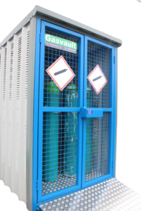 Illustrates the 9GSD model Gas Cylinder store manufactured by Chemstore.