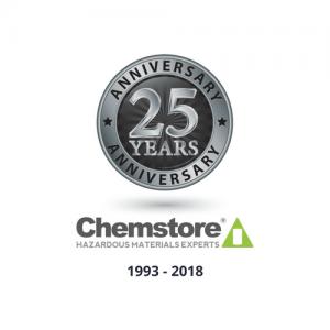 Chemstore 25th year logo