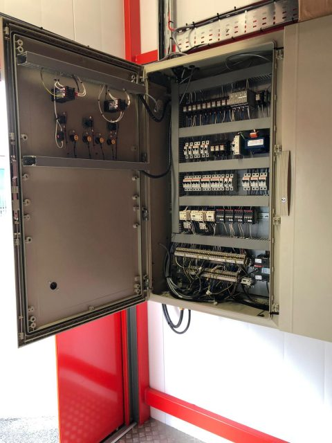 Inside of a control panel