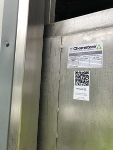 Chemstore QR label Chemstore Compliance Chempli Firevault