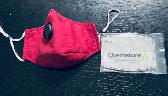 Reusable face mask with PM2.5 filters