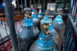gas cylinder storage of a nitrogen gas tank